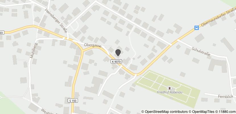 Auf Stadtplan Rabenau, Sachsen anzeigen