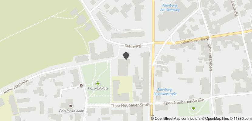 Auf Stadtplan Altenburg, Thüringen anzeigen