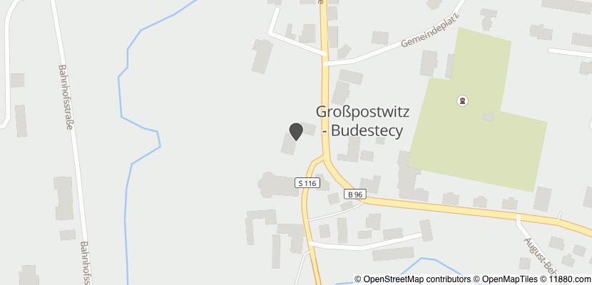 Auf Stadtplan Großpostwitz, Oberlausitz anzeigen