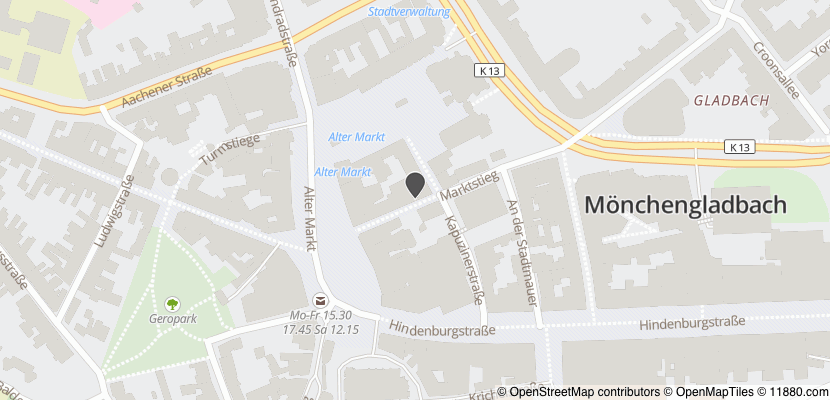 Auf Stadtplan Mönchengladbach anzeigen
