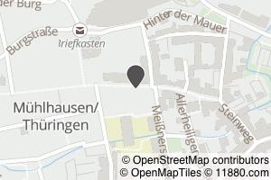 Auf Stadtplan Mühlhausen, Thüringen anzeigen