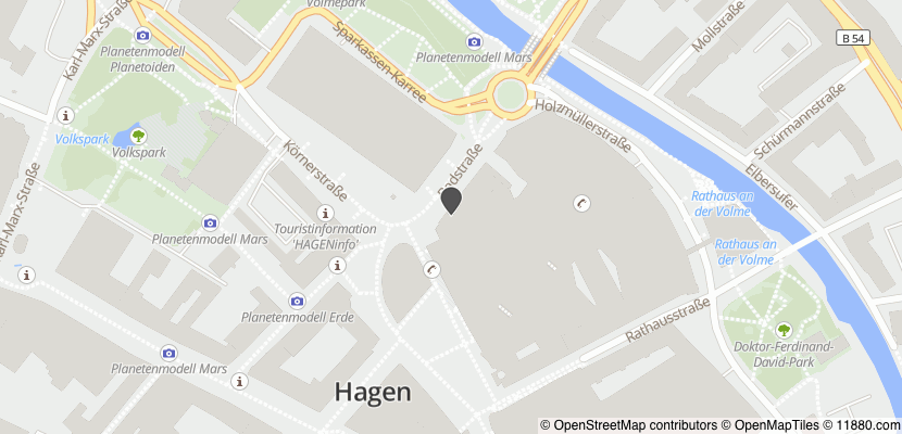 Auf Stadtplan Hagen, Westfalen anzeigen