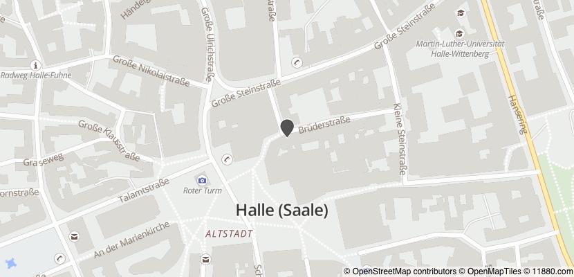 Auf Stadtplan Halle, Saale anzeigen