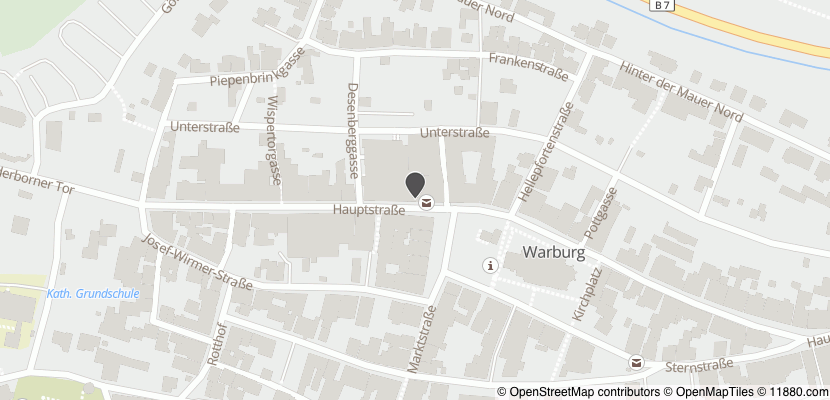 Auf Stadtplan Warburg, Westfalen anzeigen