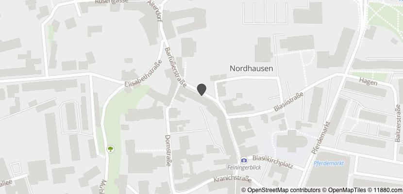 Auf Stadtplan Nordhausen, Thüringen anzeigen