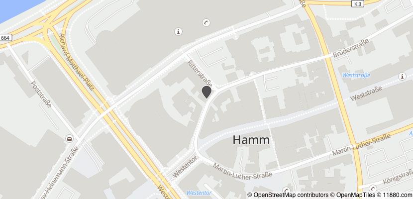 Auf Stadtplan Hamm, Westfalen anzeigen