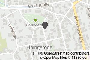 Auf Stadtplan Elbingerode, Harz anzeigen