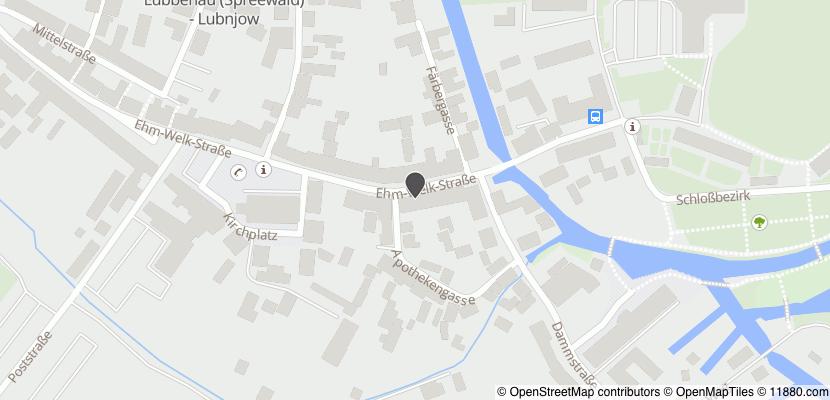 Auf Stadtplan Lübbenau, Spreewald anzeigen