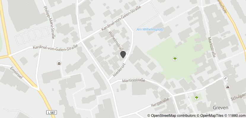 Auf Stadtplan Greven, Westfalen anzeigen