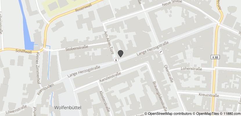 Auf Stadtplan Wolfenbüttel, Niedersachsen anzeigen