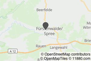 Auf Stadtplan Fürstenwalde, Spree anzeigen