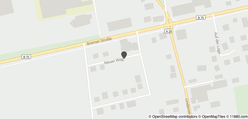 Auf Stadtplan Sottrum, Kreis Rotenburg anzeigen