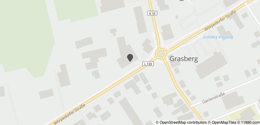 Auf Stadtplan Grasberg bei Bremen anzeigen