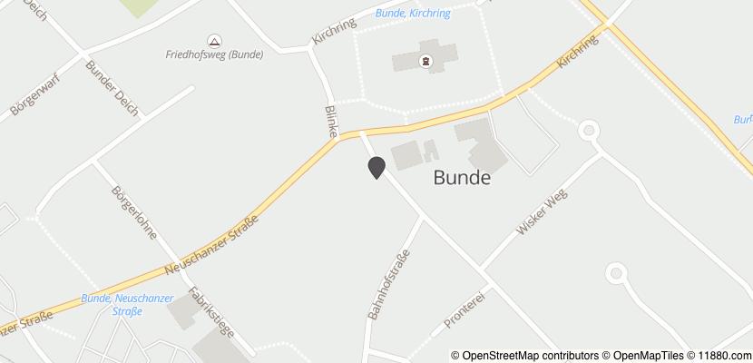 Auf Stadtplan Bunde, Ostfriesland anzeigen