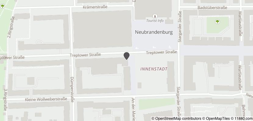 Auf Stadtplan Neubrandenburg, Mecklenburg anzeigen