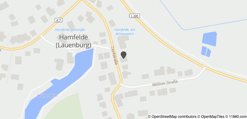 Auf Stadtplan Hamfelde, Kreis Herzogtum Lauenburg anzeigen