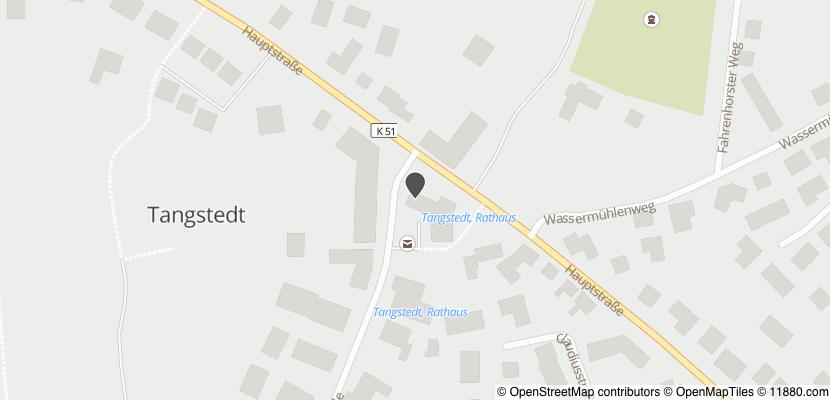 Auf Stadtplan Tangstedt, Kreis Stormarn anzeigen
