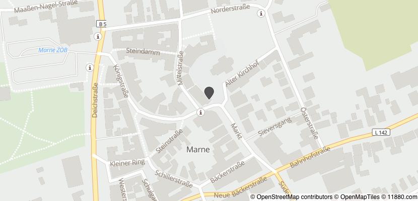 Auf Stadtplan Marne, Holstein anzeigen