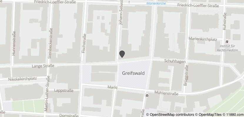 Auf Stadtplan Greifswald, Hansestadt anzeigen